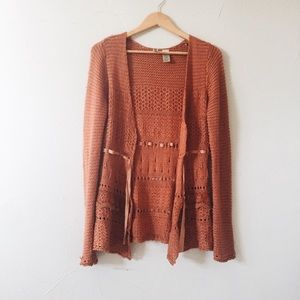 Burnt Orange Chunky Sweater